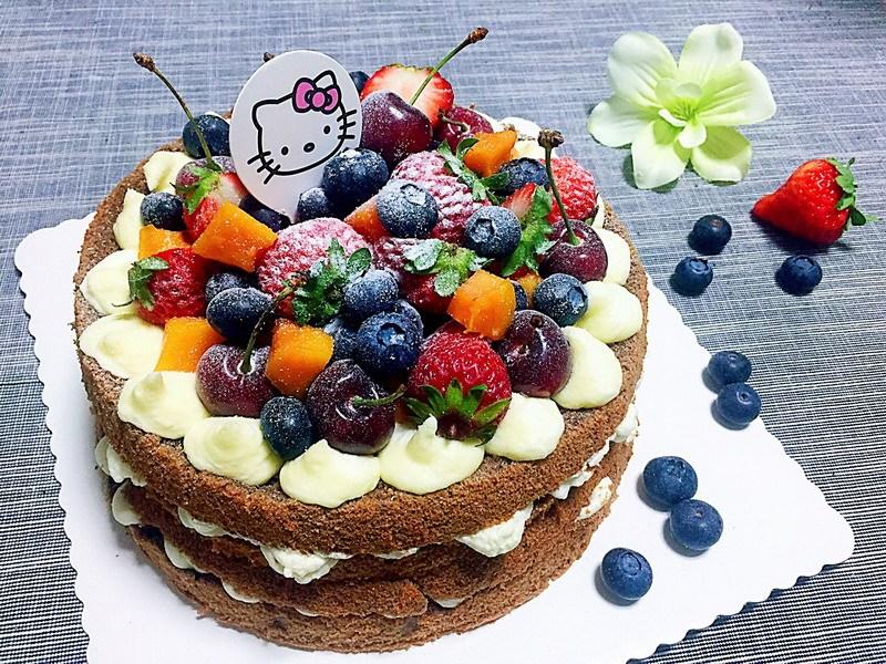 """烘焙教程 """"水果裸蛋糕""""的详细做法"""